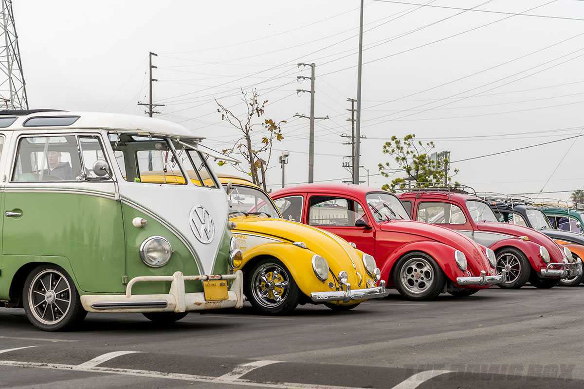 VW Bus and Beetles at Cars and Coffee South Bay Sunday