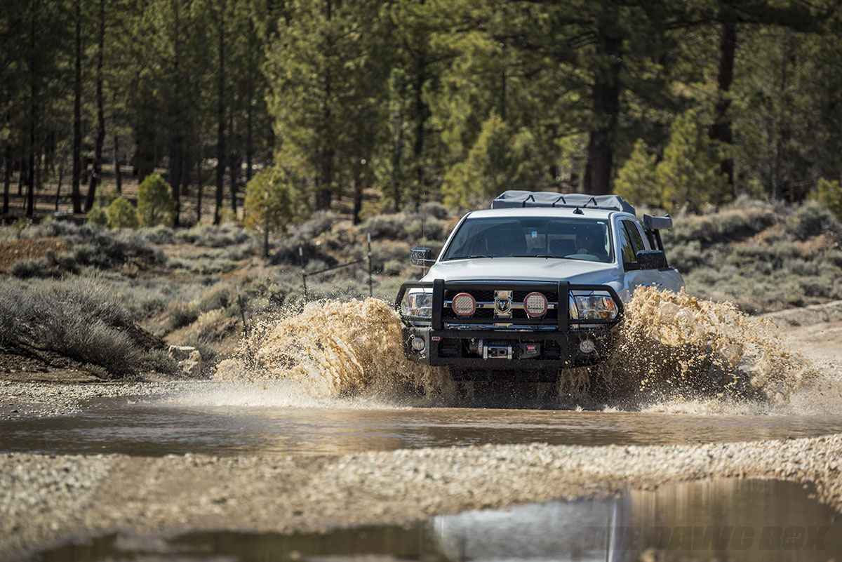 Modified Dodge Ram 2500 HD in the water
