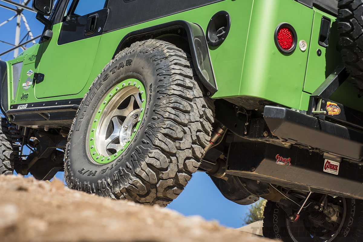 Modified 2006 Jeep Wrangler Rubicon Unlimited LJ rear with Milestar Patagonia M/Ts