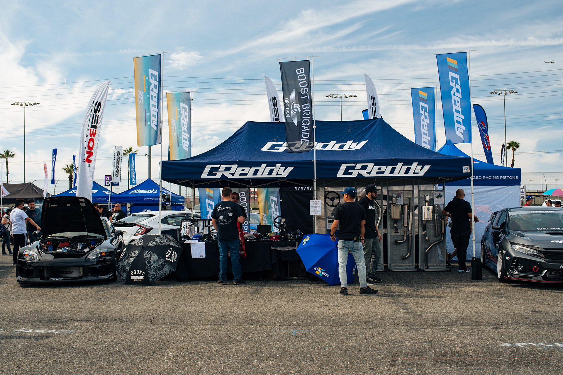 14th Annual Eibach Honda Meet, GReddy Booth