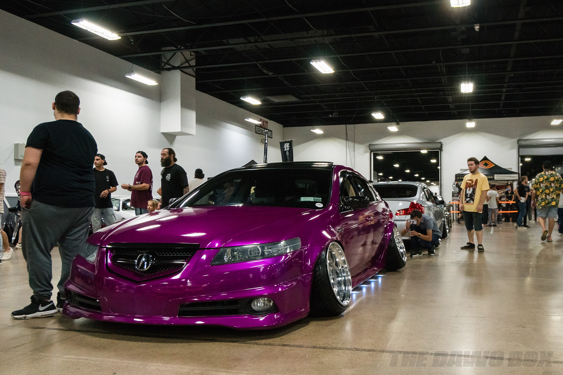 Violet Acura at tuner evolution philly