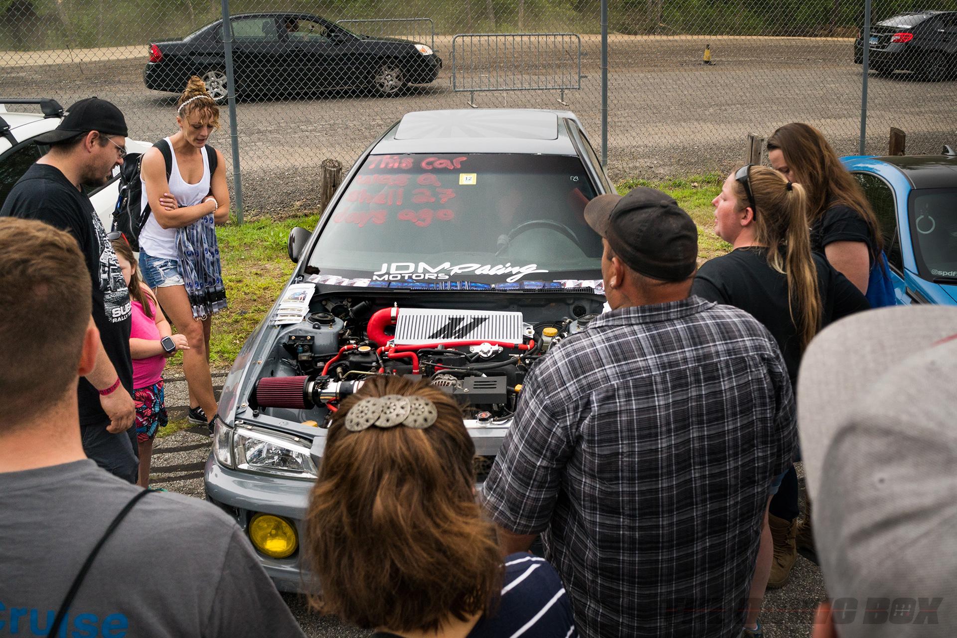 Wicked Big Meet, Crowd Around Car