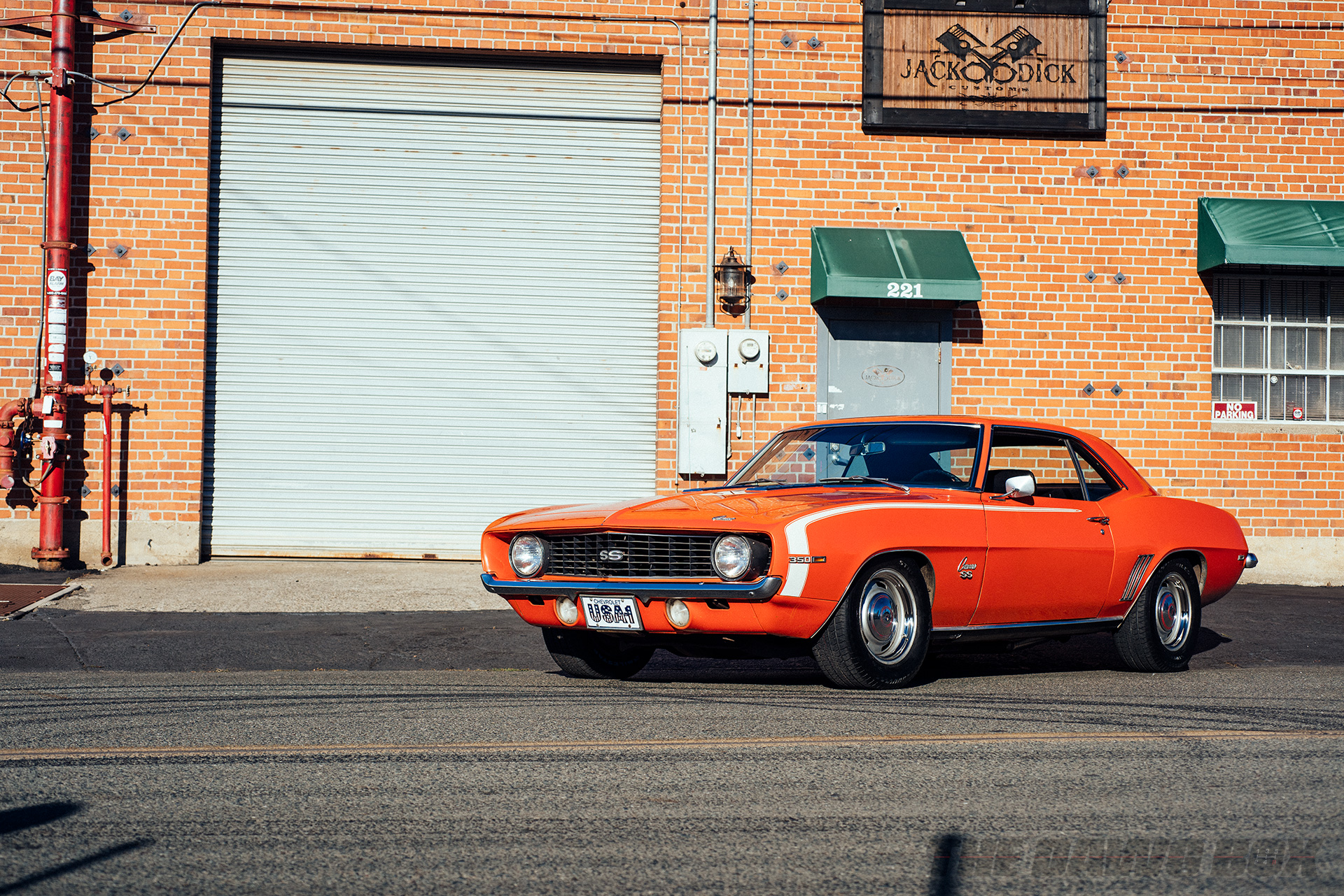 Front 3/4shot of Curt Hill's 1969 Chevrolet Camaro SS