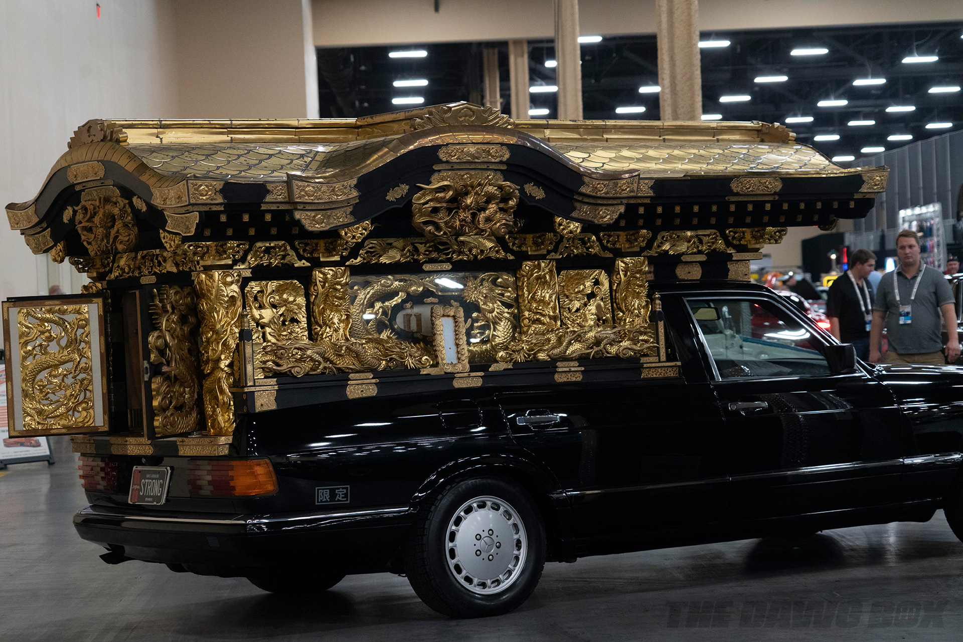 black 1990 Mercedes-Benz 560 SEL 'Nagoya' Hearse at Barrett-Jackson Auction