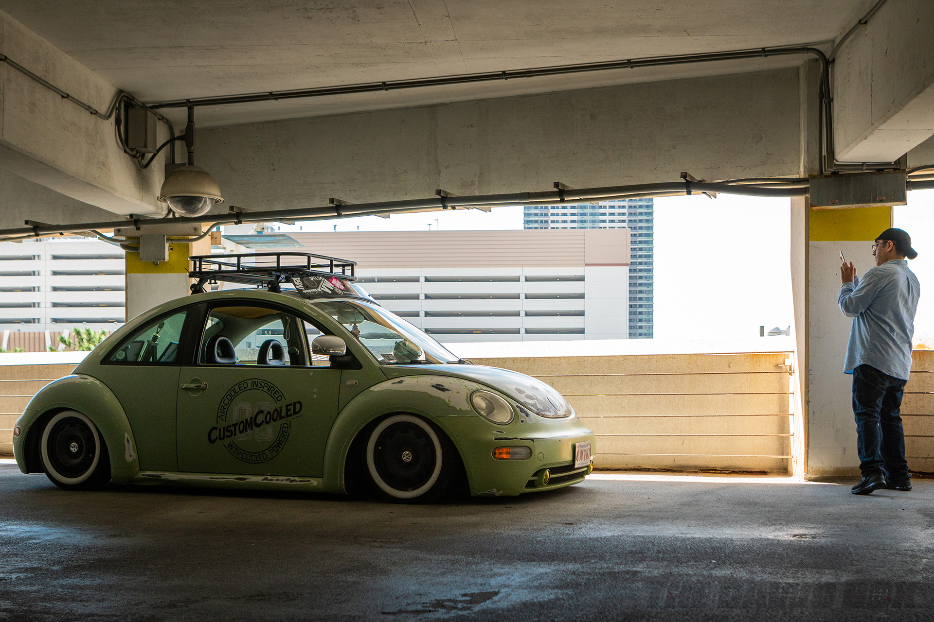 VW Beetle in the garage at H2Oi