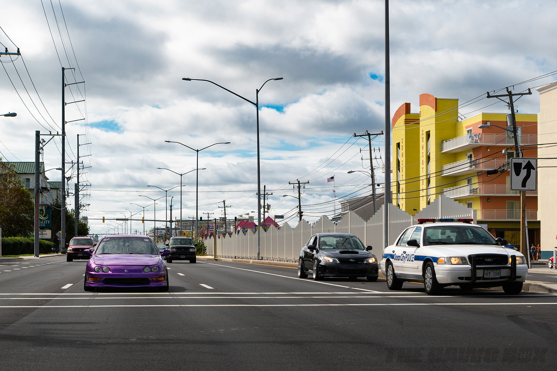 Ocean City Police and Honda Integra at H2Oi