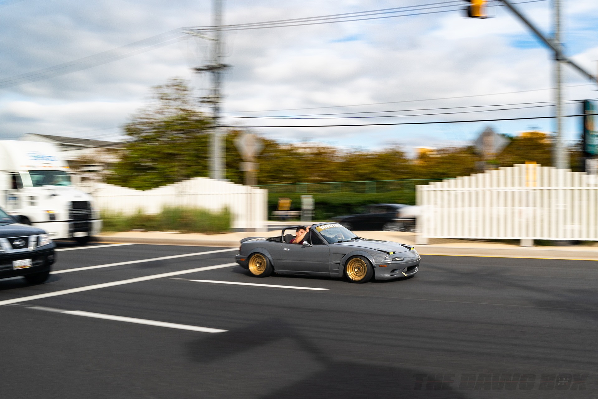 Slammed and modified Mazda Miata