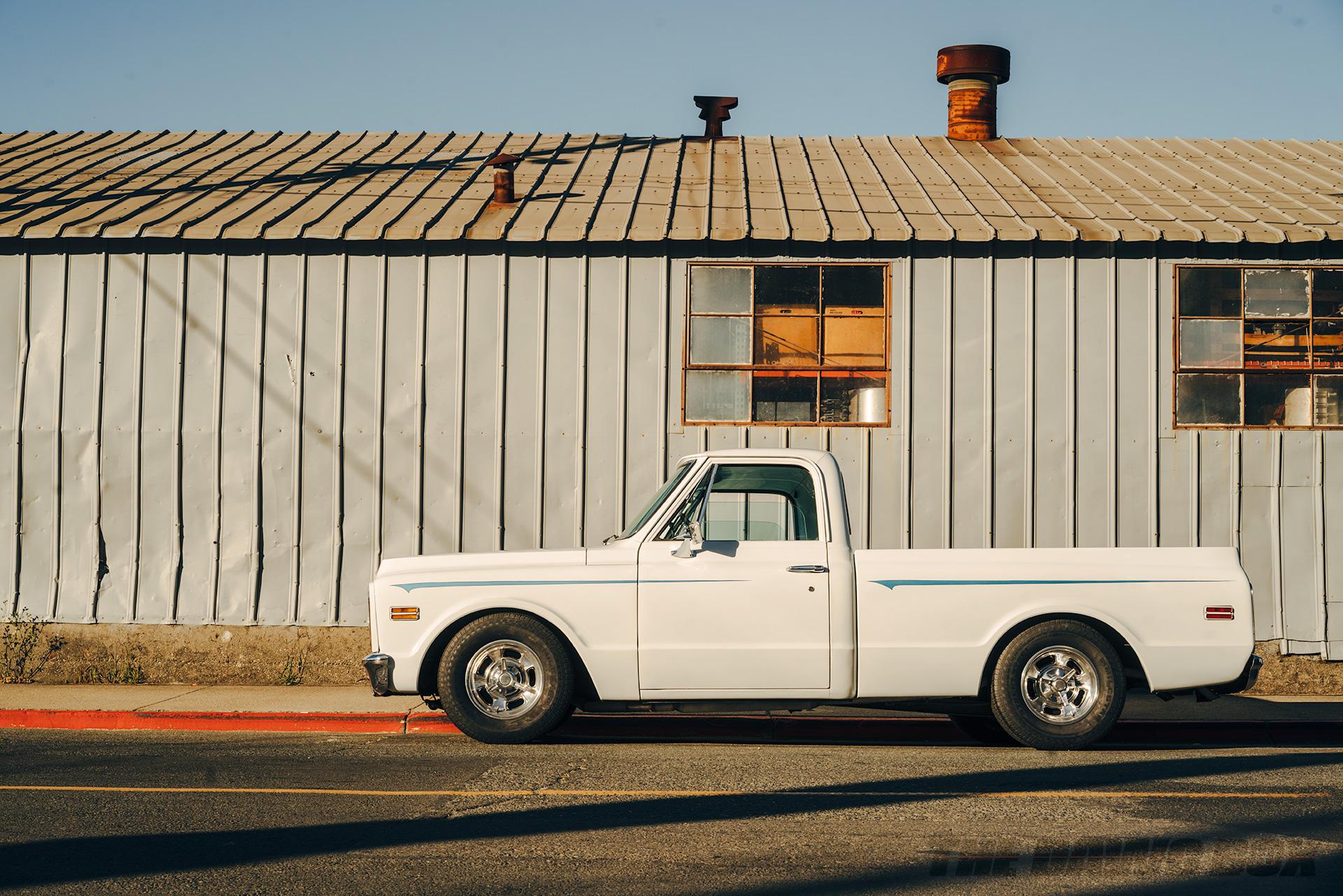 Mike Hegarty's white 1971 Chevrolet C10