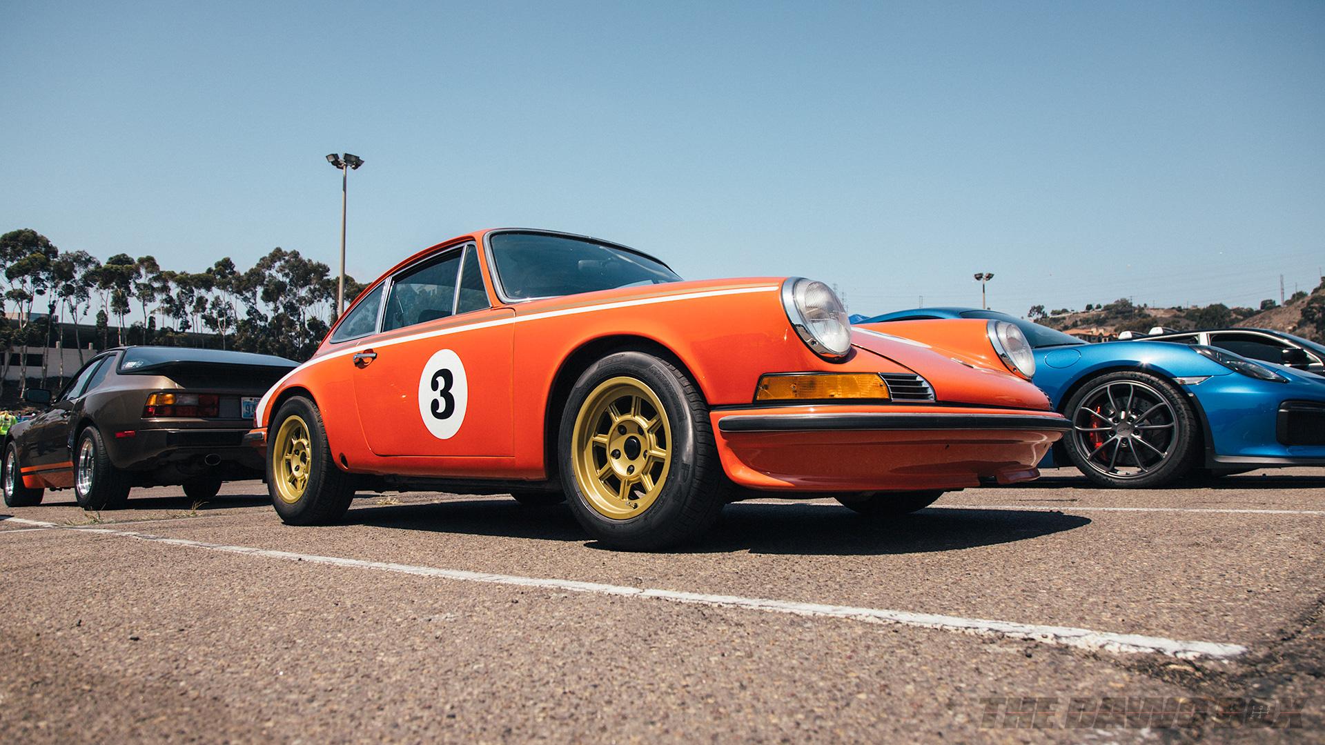 Orange Air-cooled Porsche 911 at Big Socal Euro