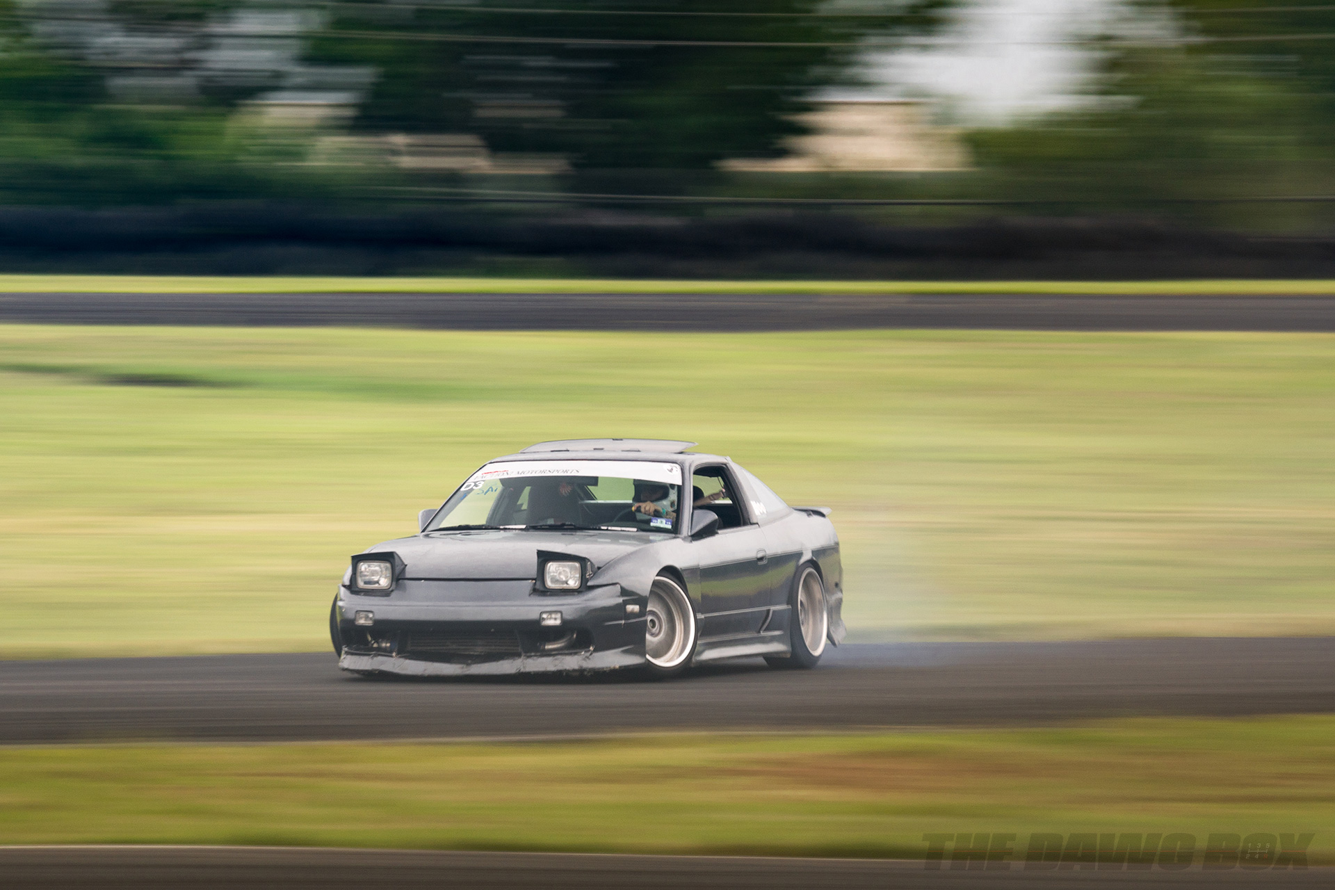 Nissan 240sx fastback S13 about to drift