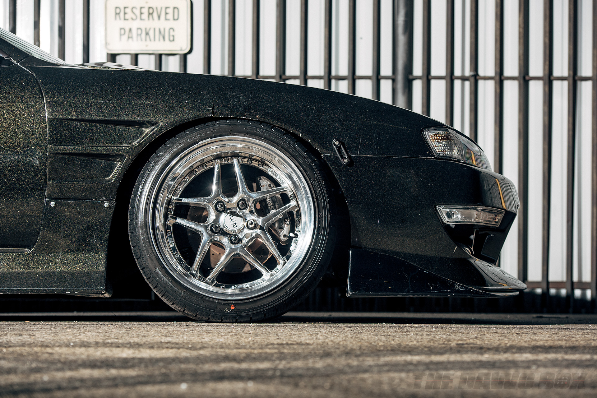 Nissan 240SX s14 with Blitz wheels and Milestar MS932 XP+ tires