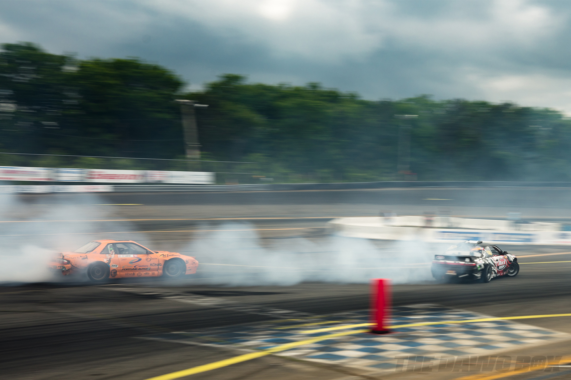 Nissan S13's tandem drifting