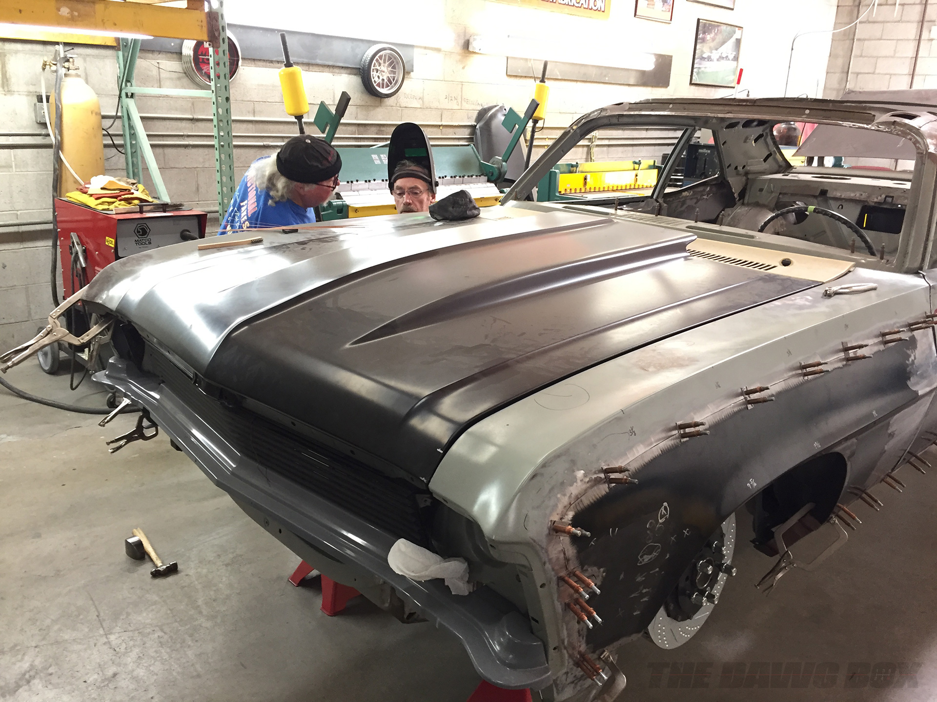 Novaro being worked on at the shop