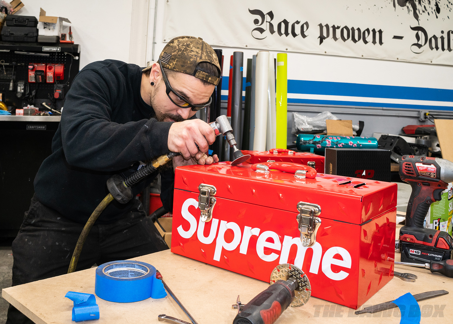 Supreme tool boxes for air ride suspension
