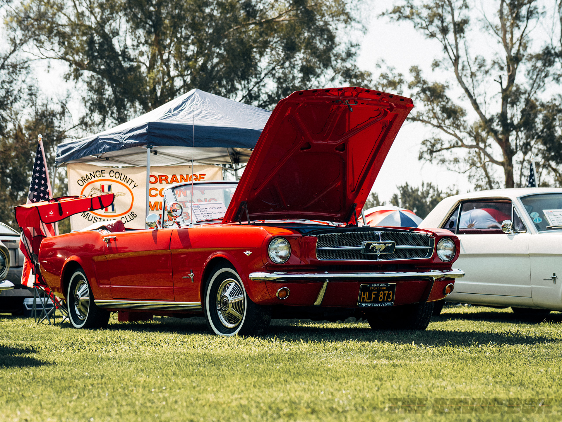 Three-quarter view of the 1964 1/2 Mustang