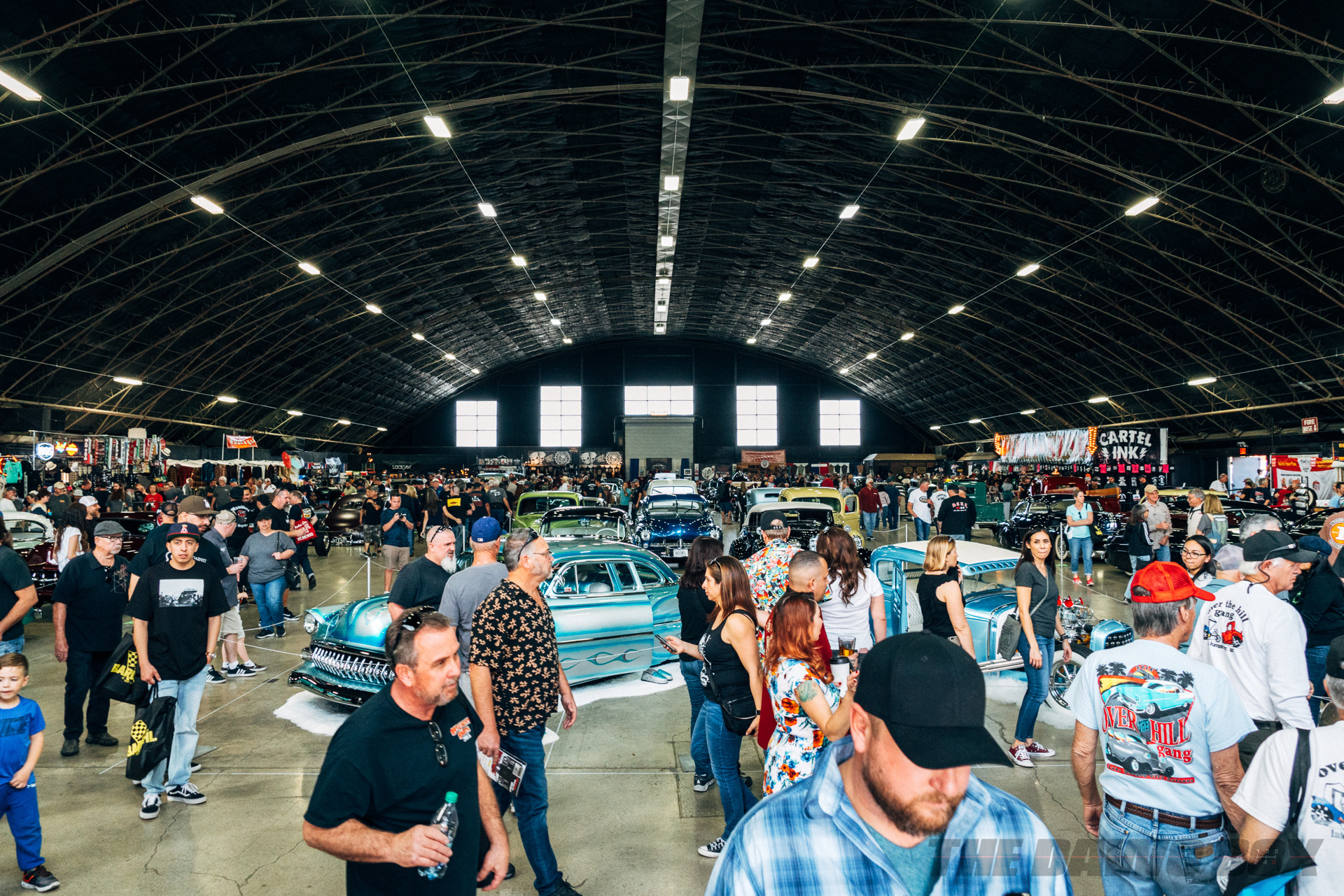 the crowd and cars on display at the 2019 Grand National Roadster Show 70th Anniversary