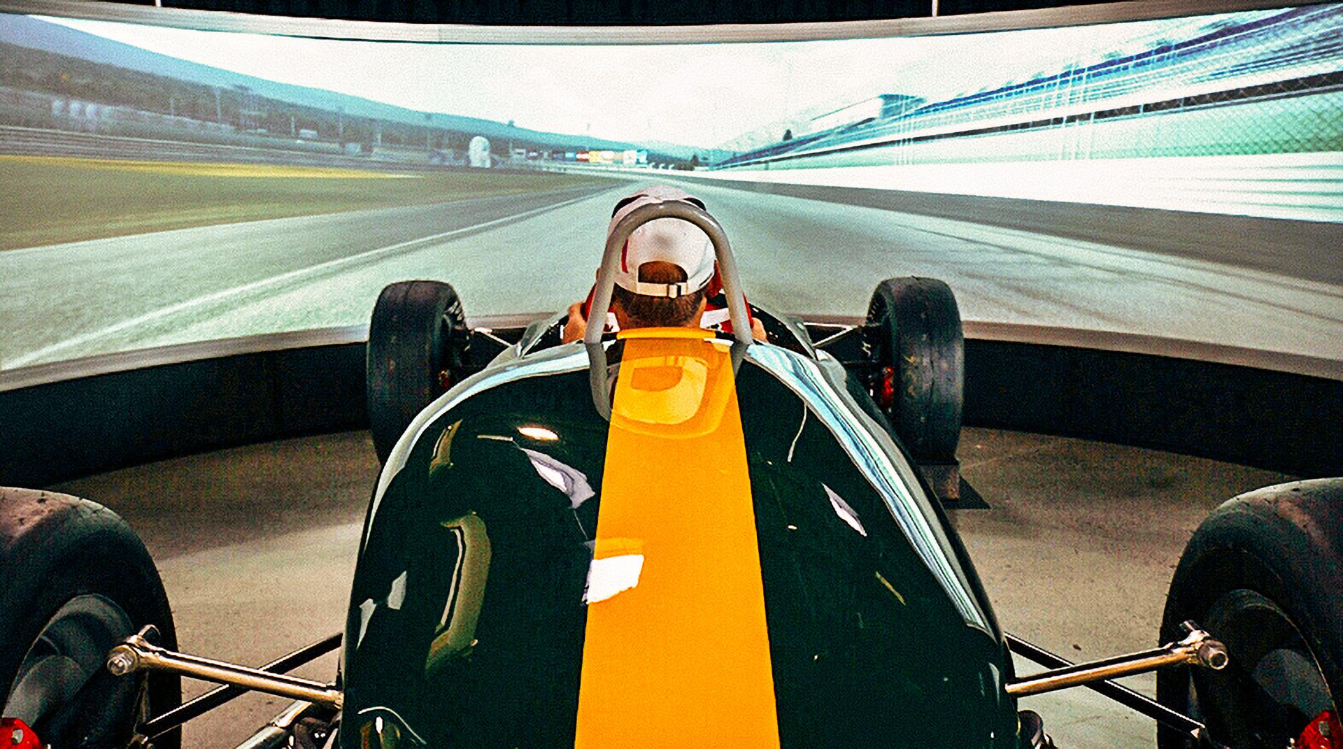 1962 Lotus simulator at the World of Speed Museum