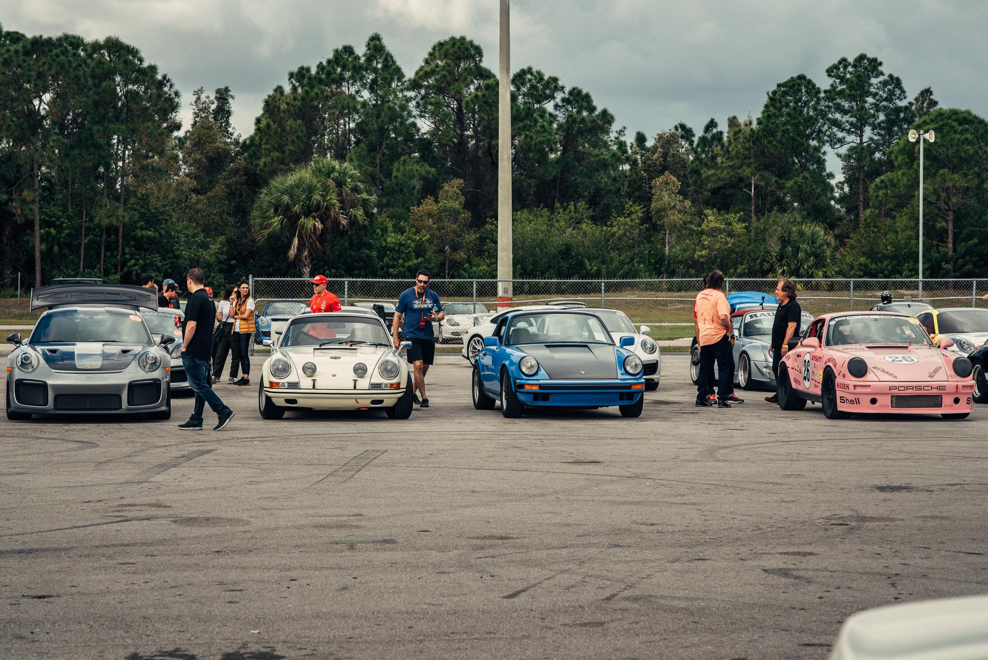 Porsches lined up at DRT Das Renn Treffen 2019