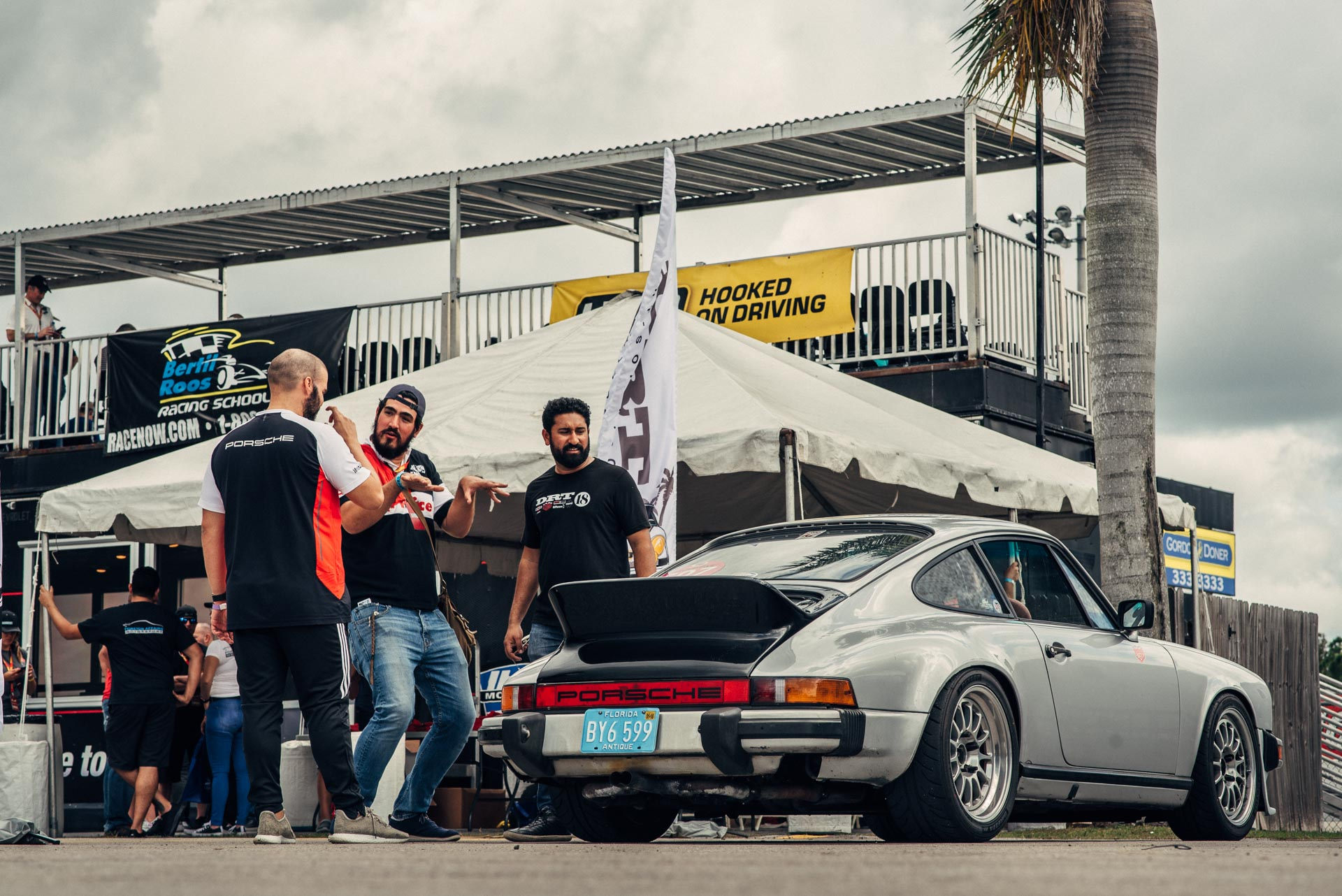 Silver Porsche at Das Renn Treffen 2019