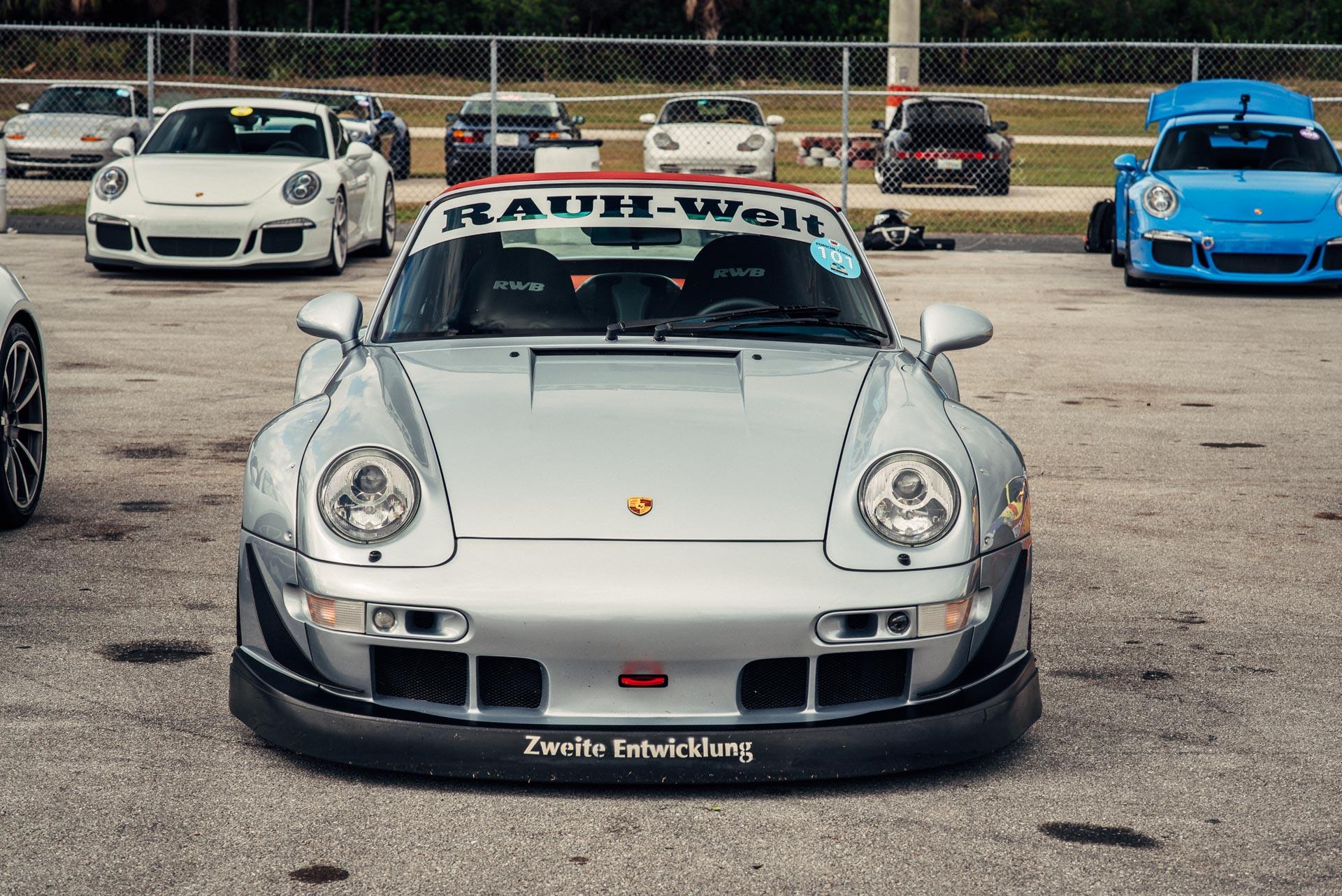 RWB Silver Porsche at DRT