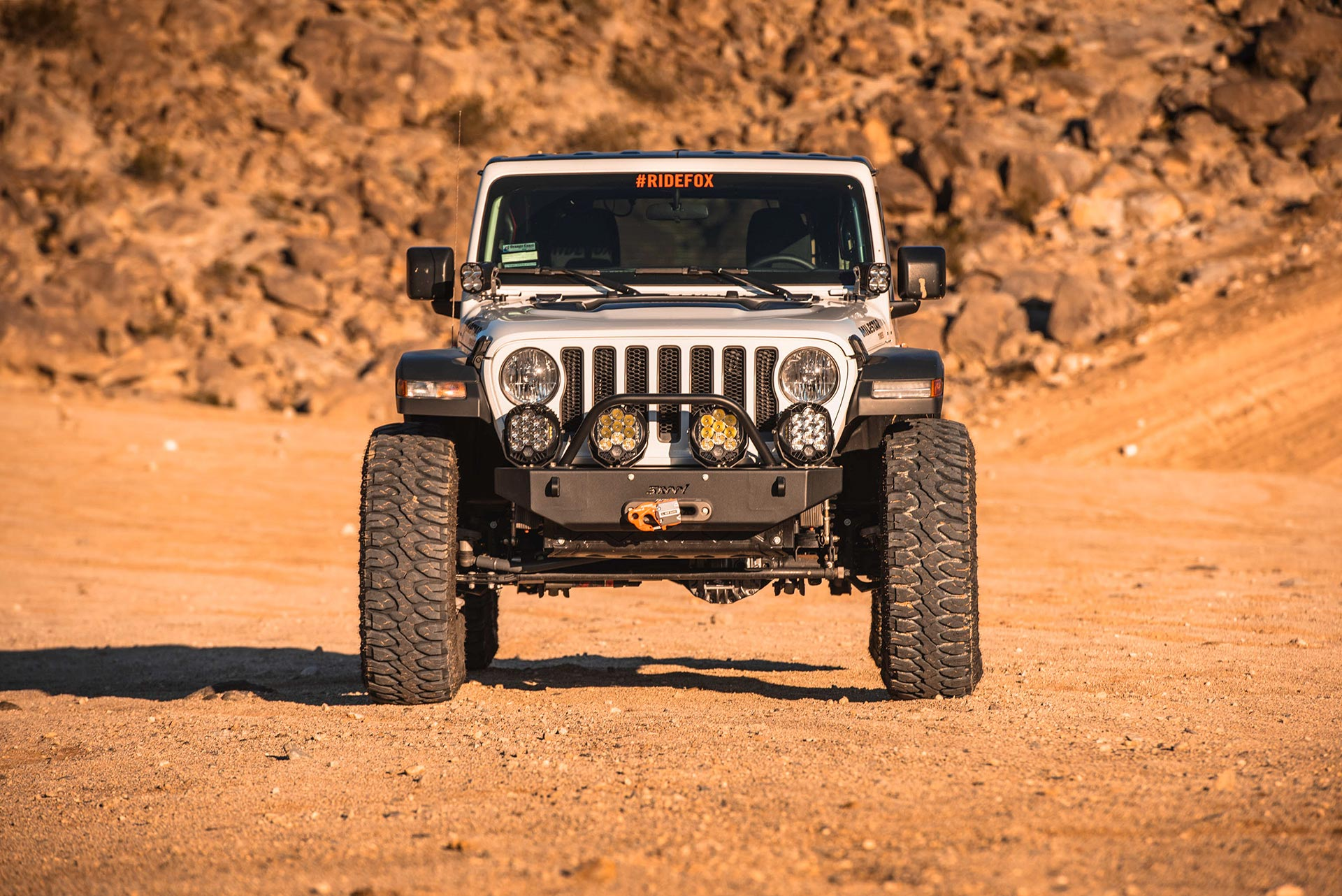 Off-road tires on Jeep YJ