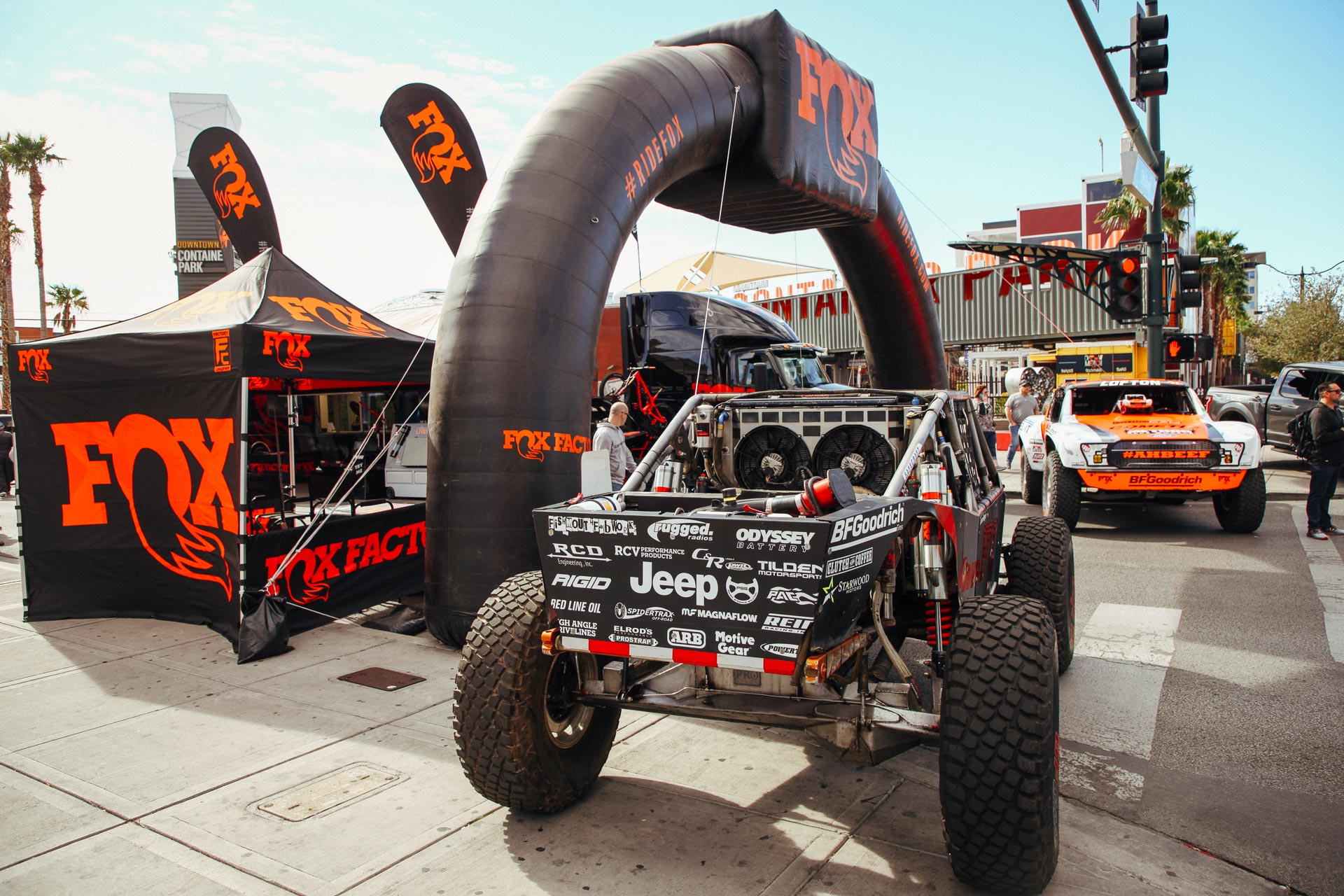 FOX Suspension booth at MINT 400 2019