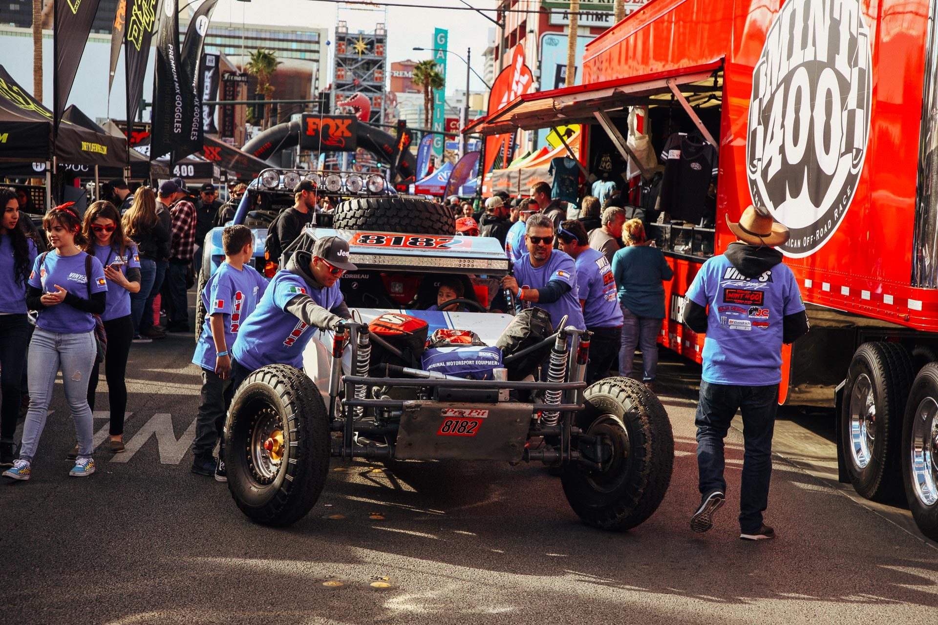 8182 on the streets during MINT 400 2019