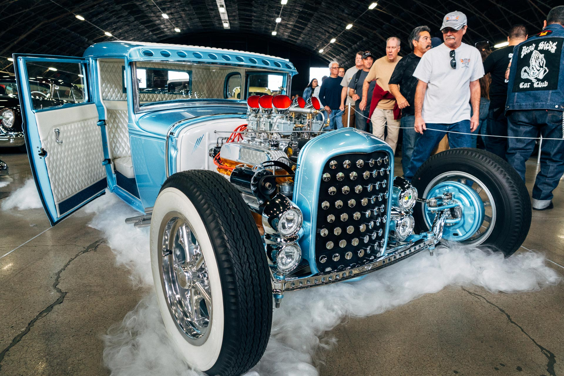 Bias Ply tires on a hot rod at the 2019 Grand National Roadster Show