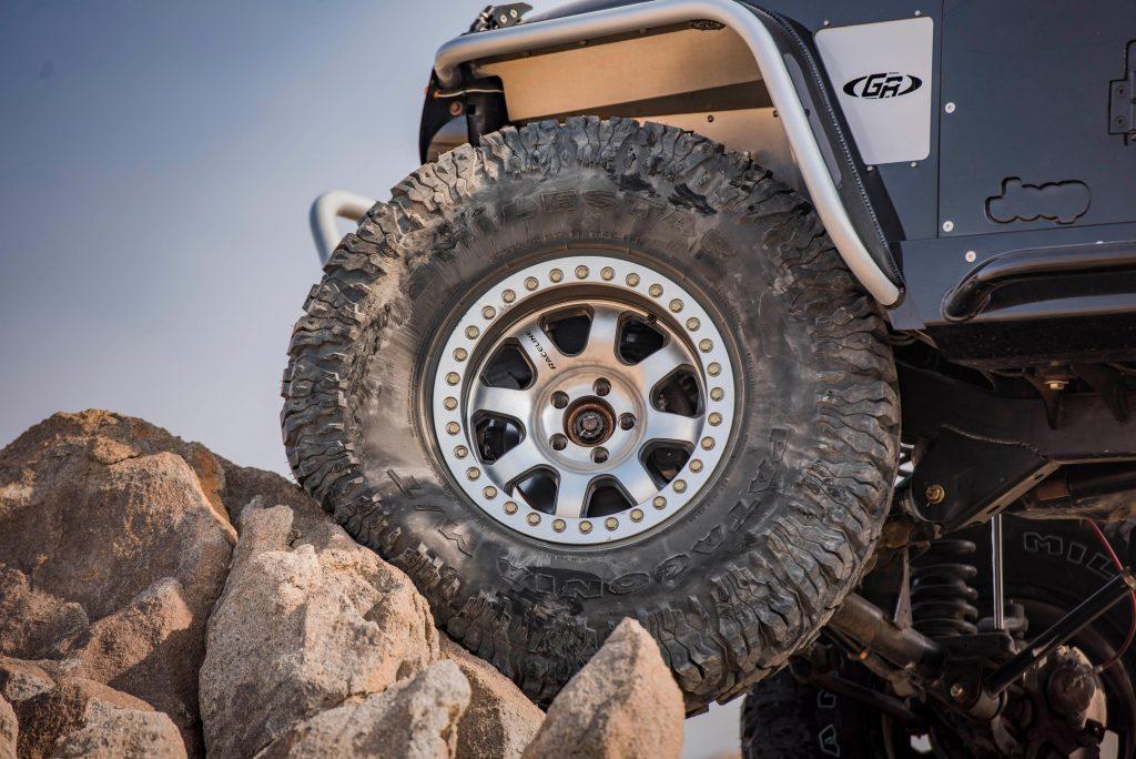 Jeep TJ on Milestar tires