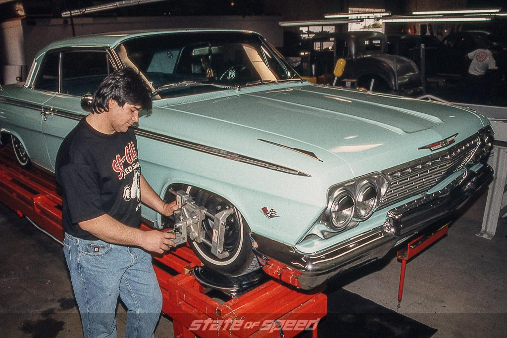 Mint Chevy Impala in the shop