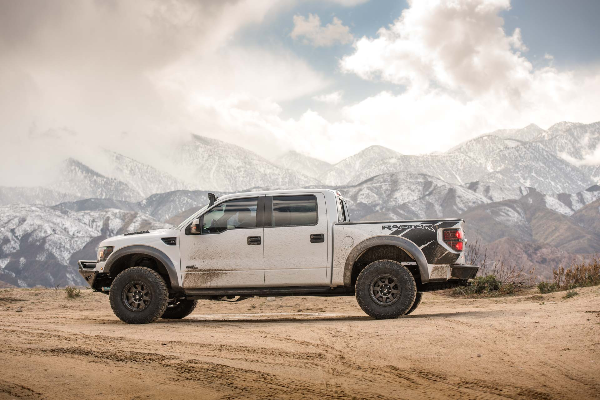 GEN1 Ford SVT Raptor in the mountains with Patagonia MTs