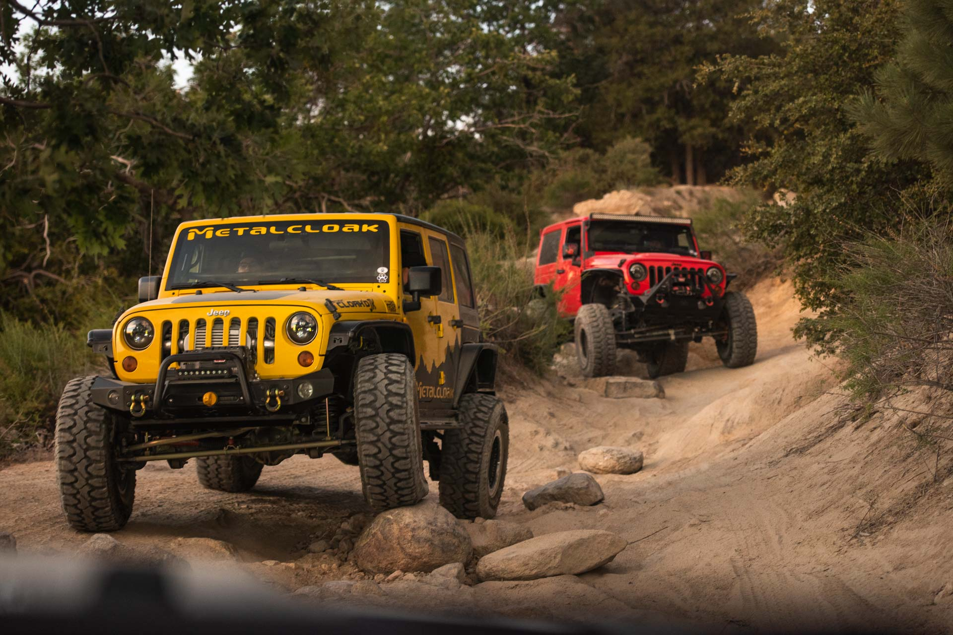 Jeep JKs with Milestar Patagonia MTs 4 wheeling and offroad