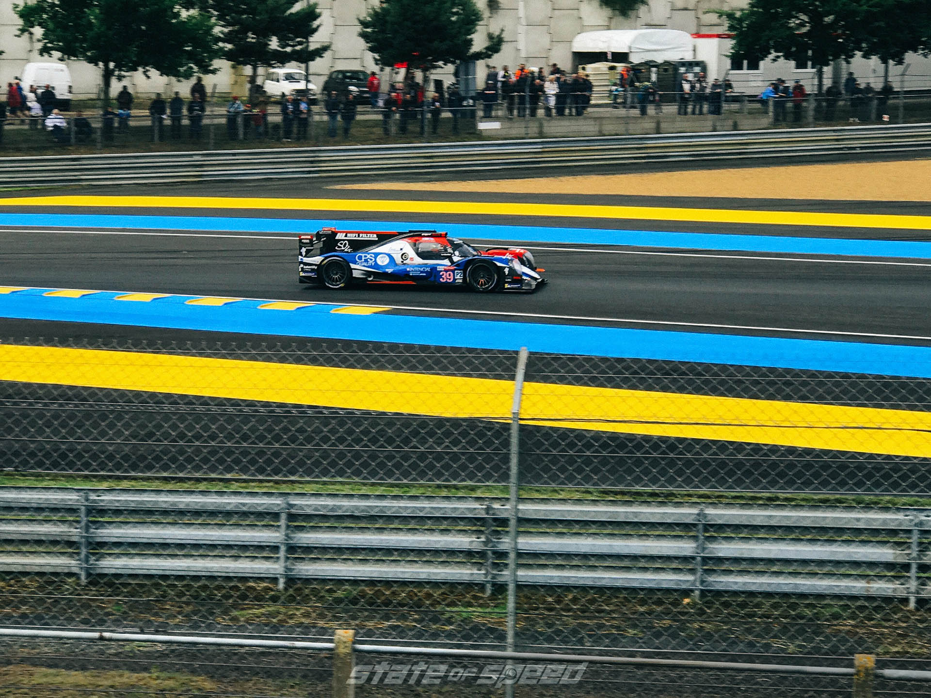 Coming out of the apex at Le Mans