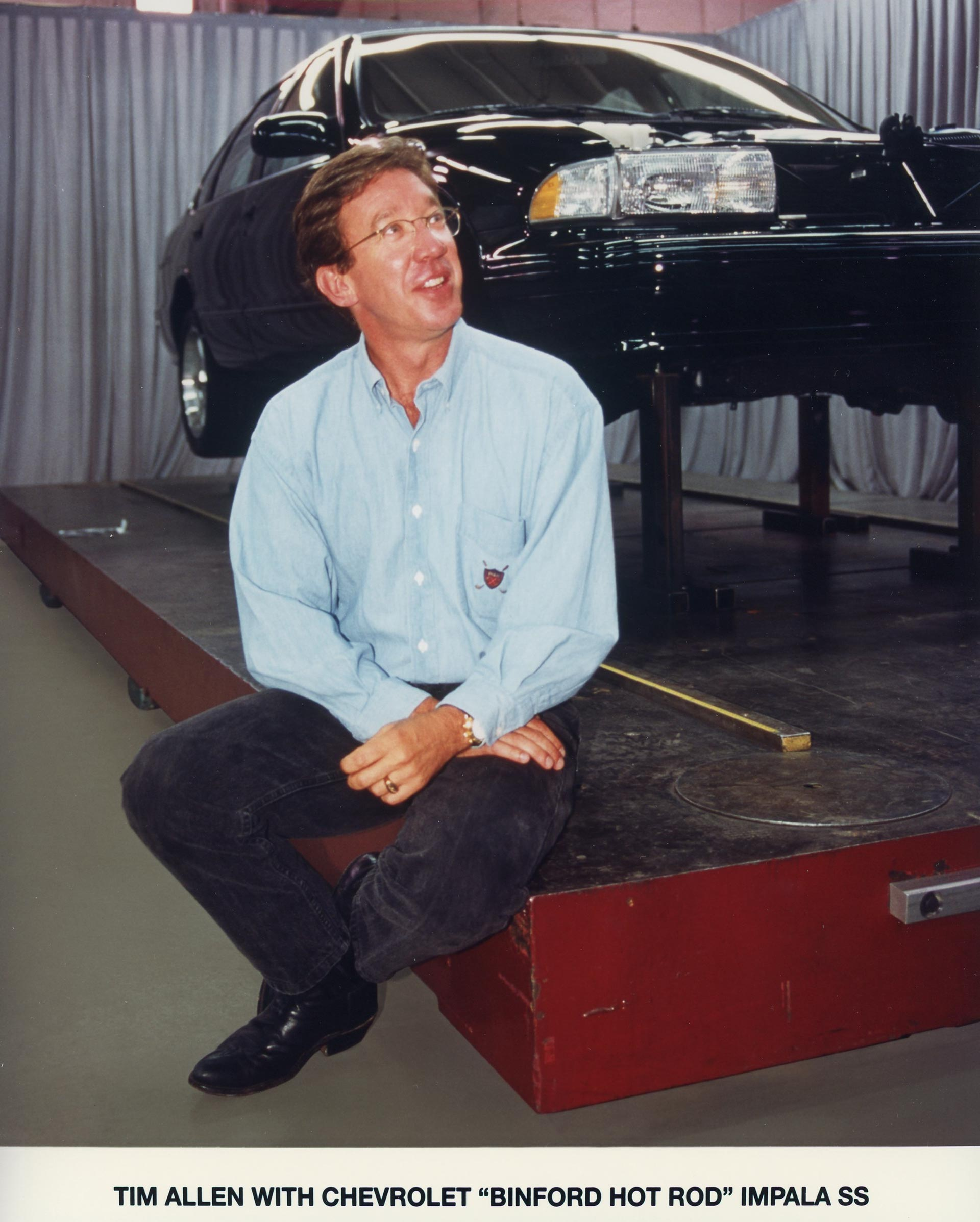 Tim Allen with the Chevrolet Impala SS