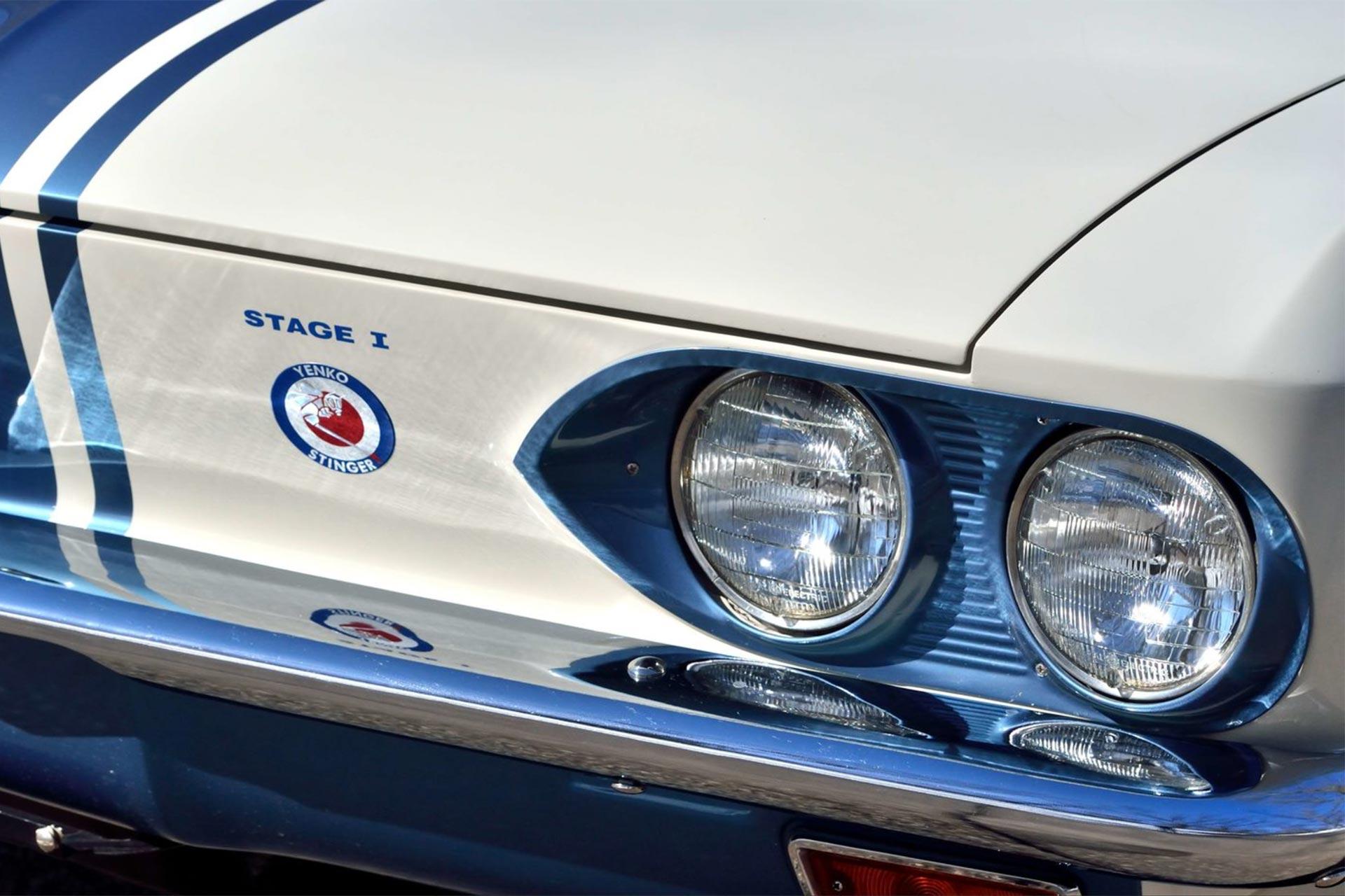 Headlights of the 1966 Yenko Corvair Stinger