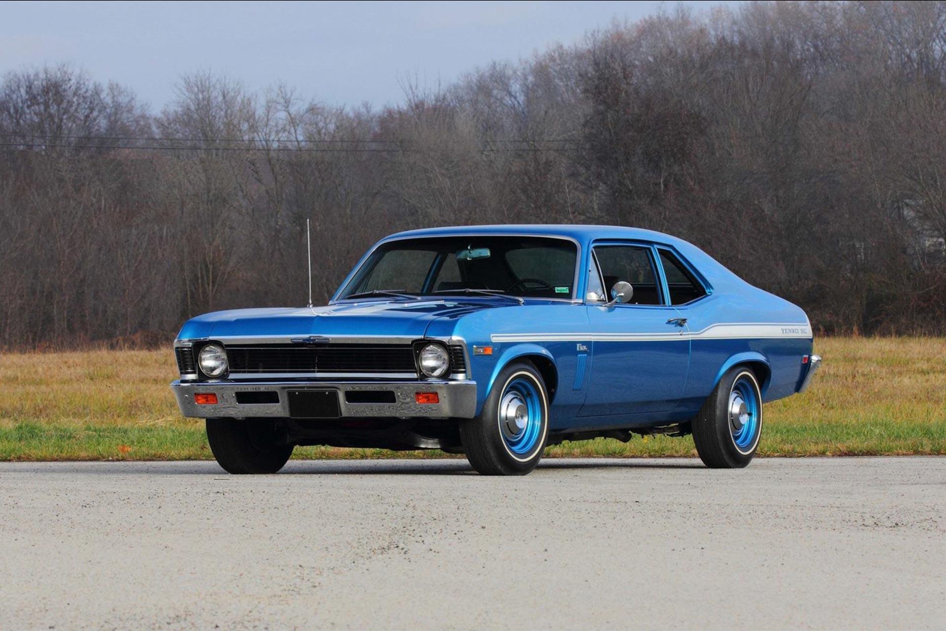 1969 Chevy Yenko/SC 427 Nova parked