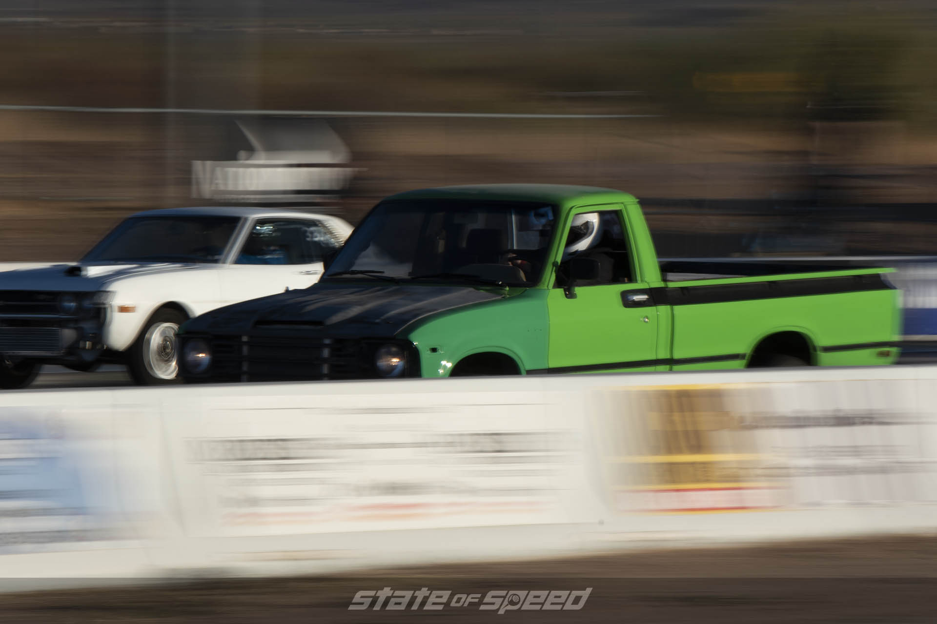 Truck on the dragstrip
