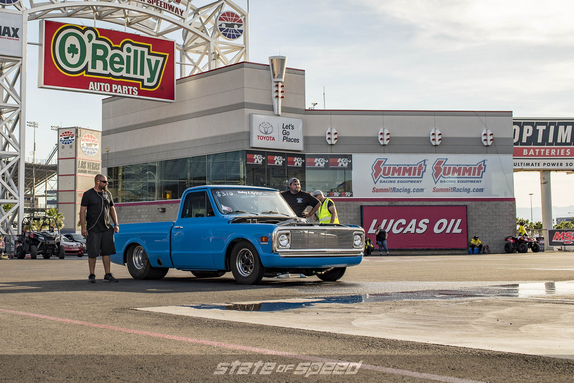 C10 on the drag strip before the water box