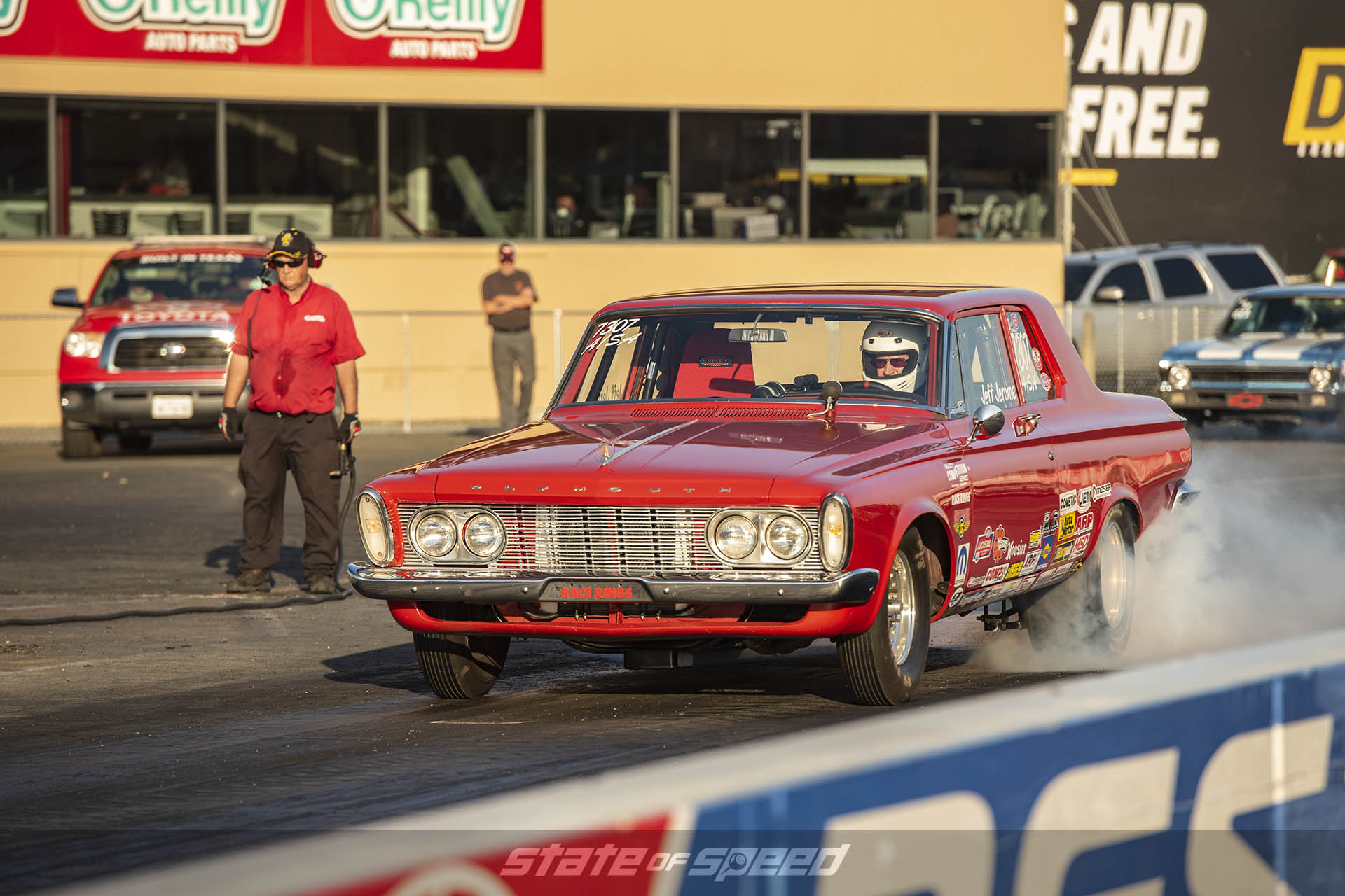 Plymouth Belvedere Max Wedge on the drag strip