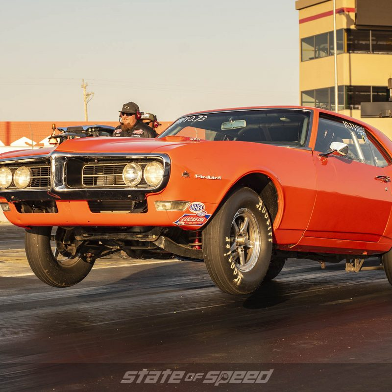 Firebird on the drag strip