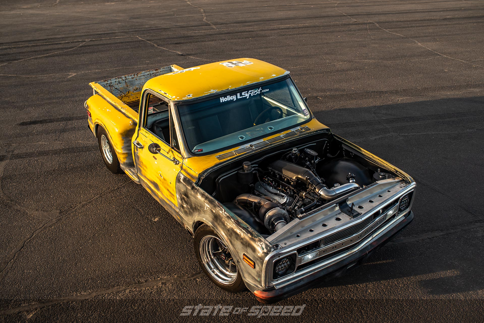 C10 with a turbocharged LS engine