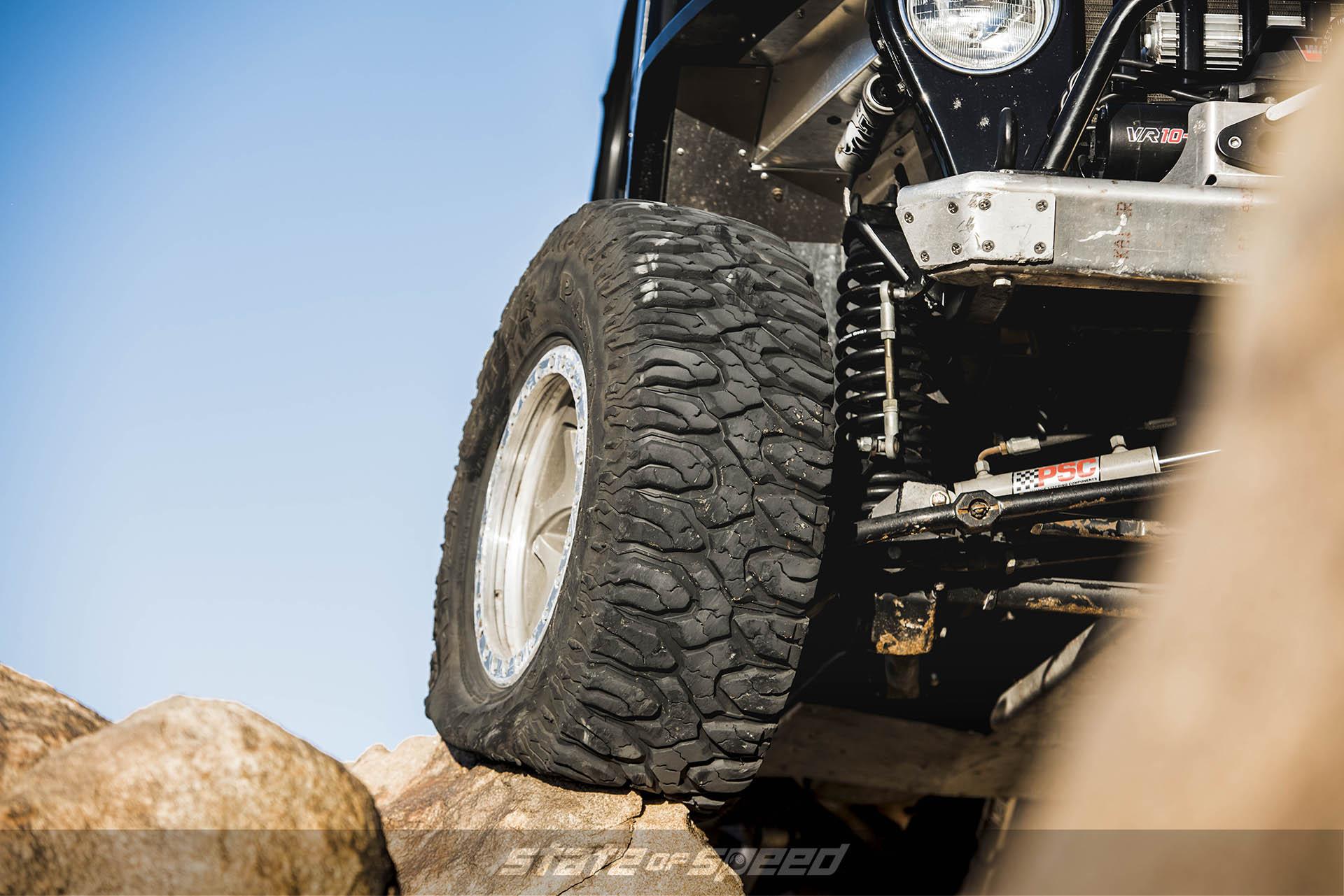 Milestar Patagonia M/Ts on modified Jeep TJ Wrangler