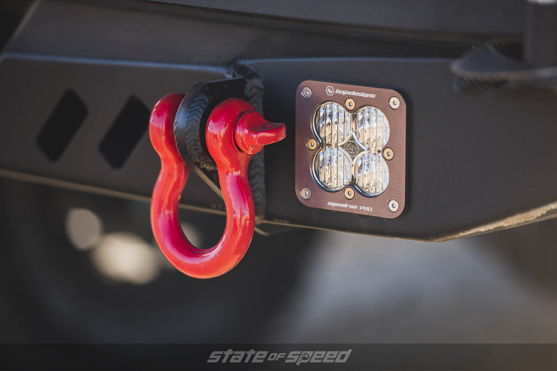 Hook and light on Toyota Tacoma