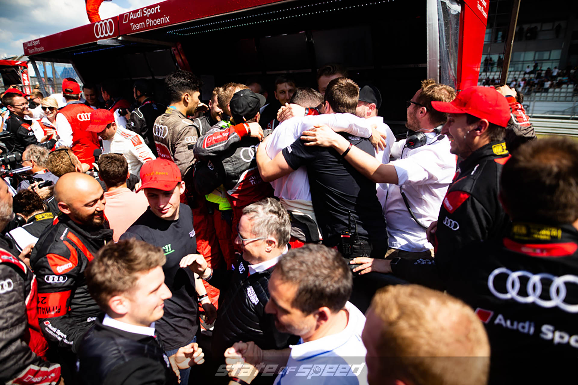 Audi Team congratulating each other