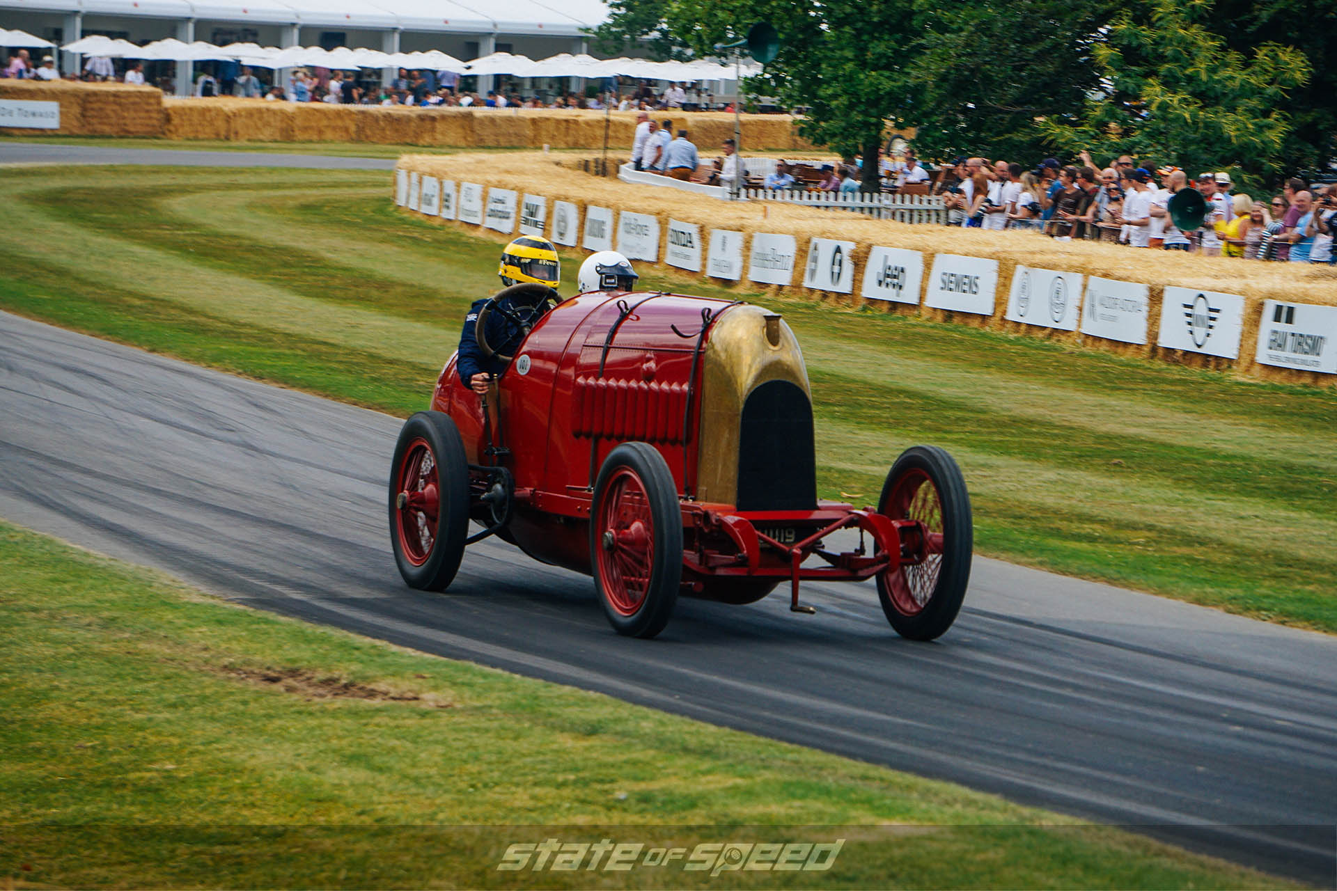 Beast of Turin racing at goodwood festival of speed