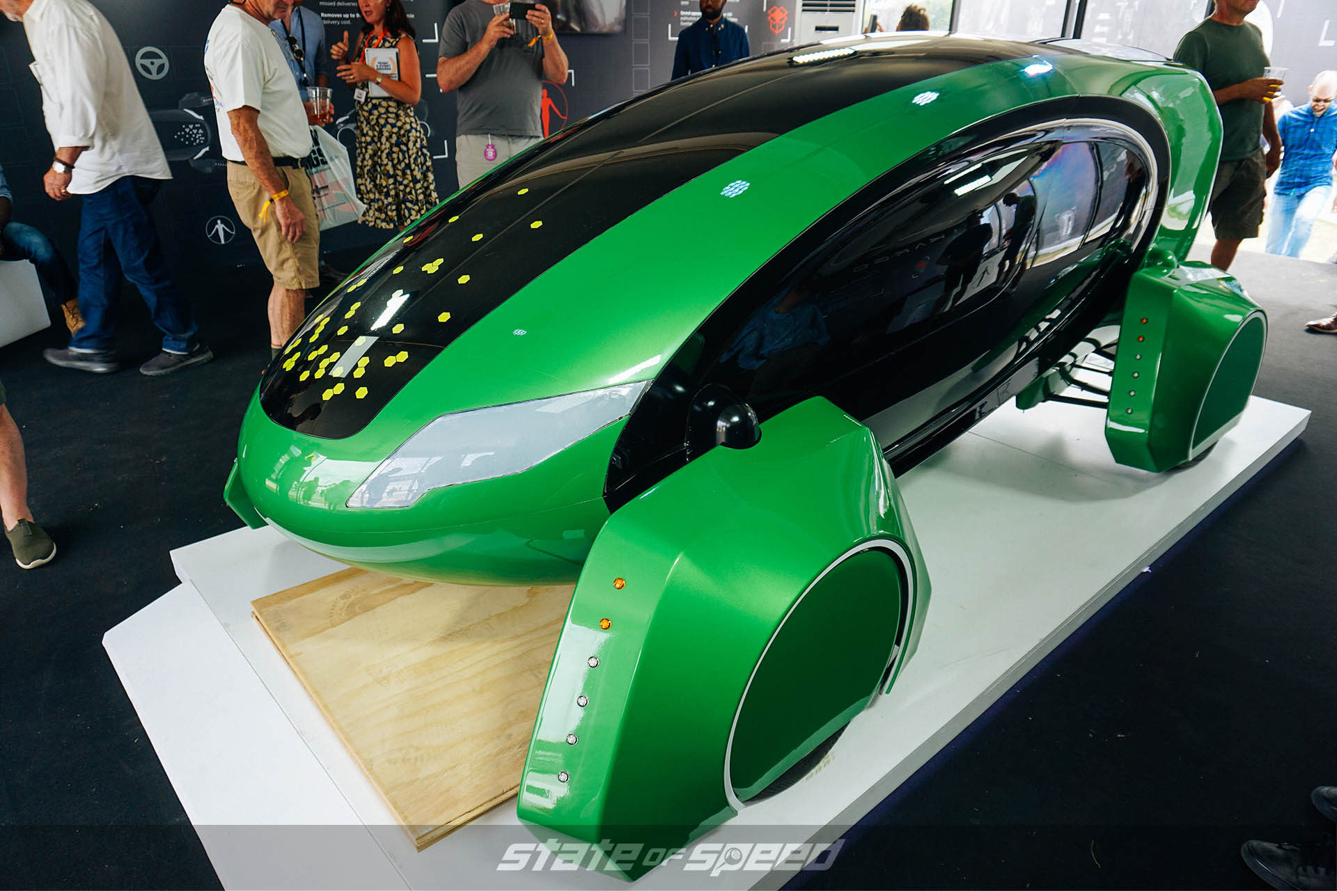 Driverless car at Goodwood festival of speed