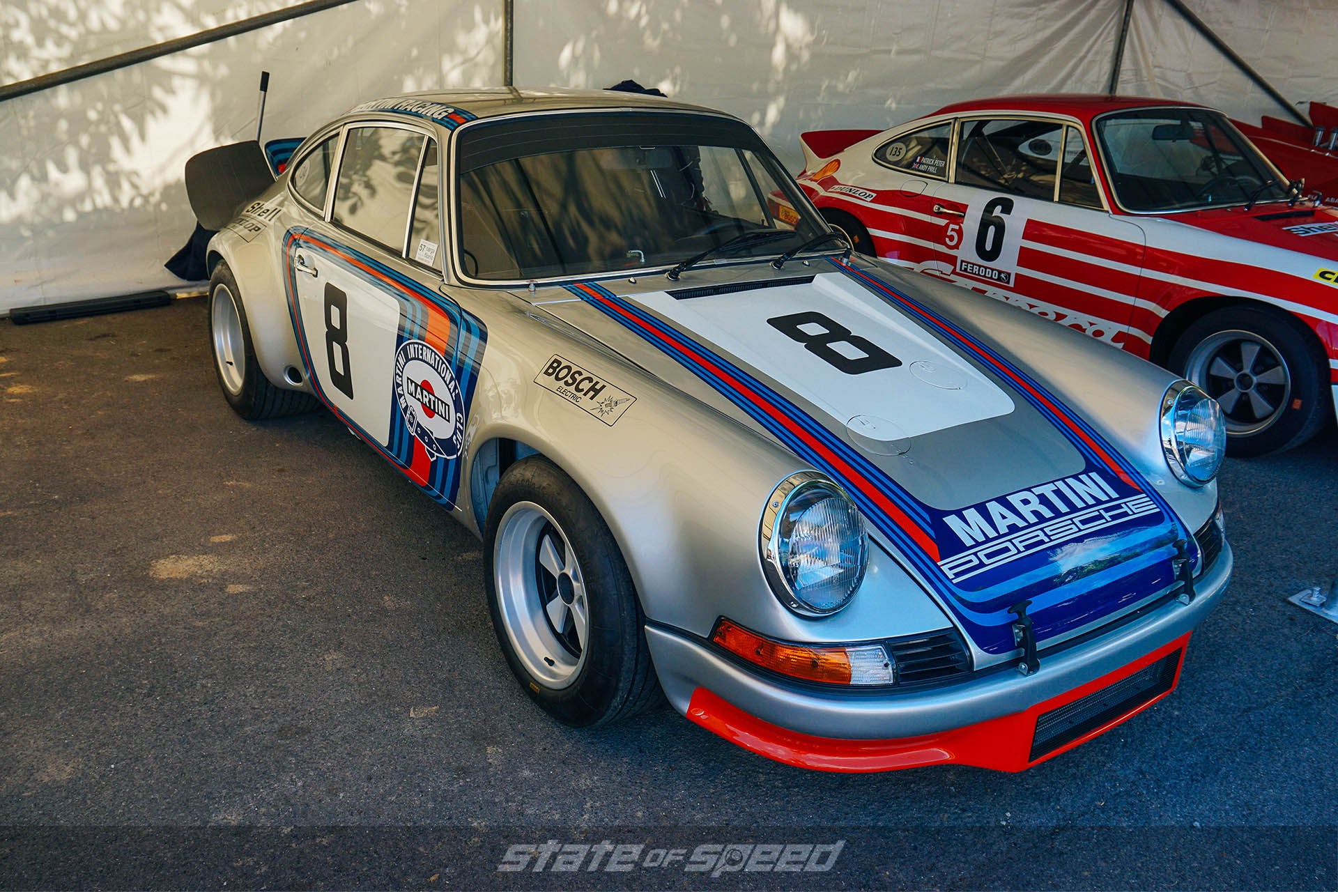 Martini livery porsche at goodwood festival of speed
