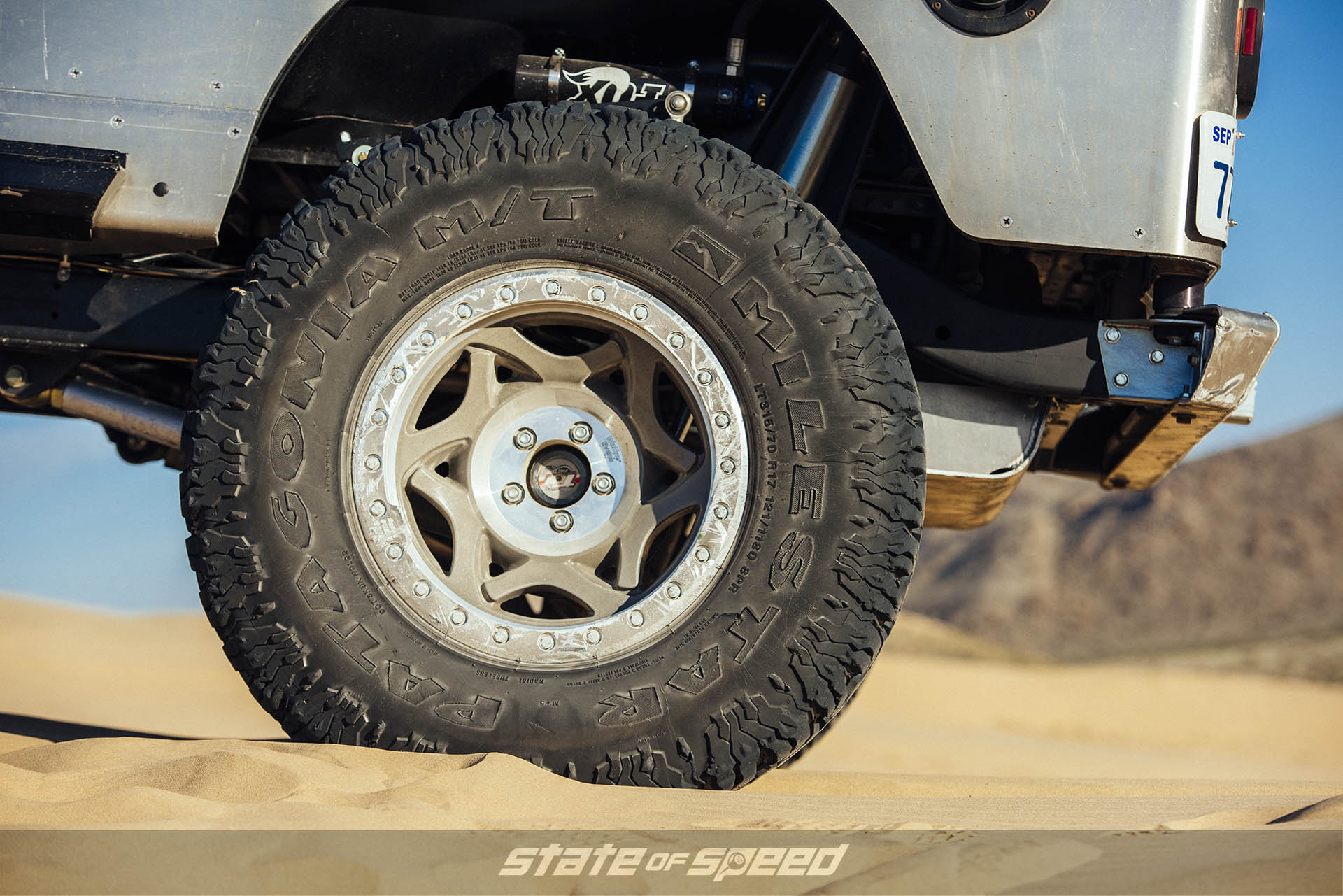 Milestar Patagonia M/Ts installed with beadlocks for offroad