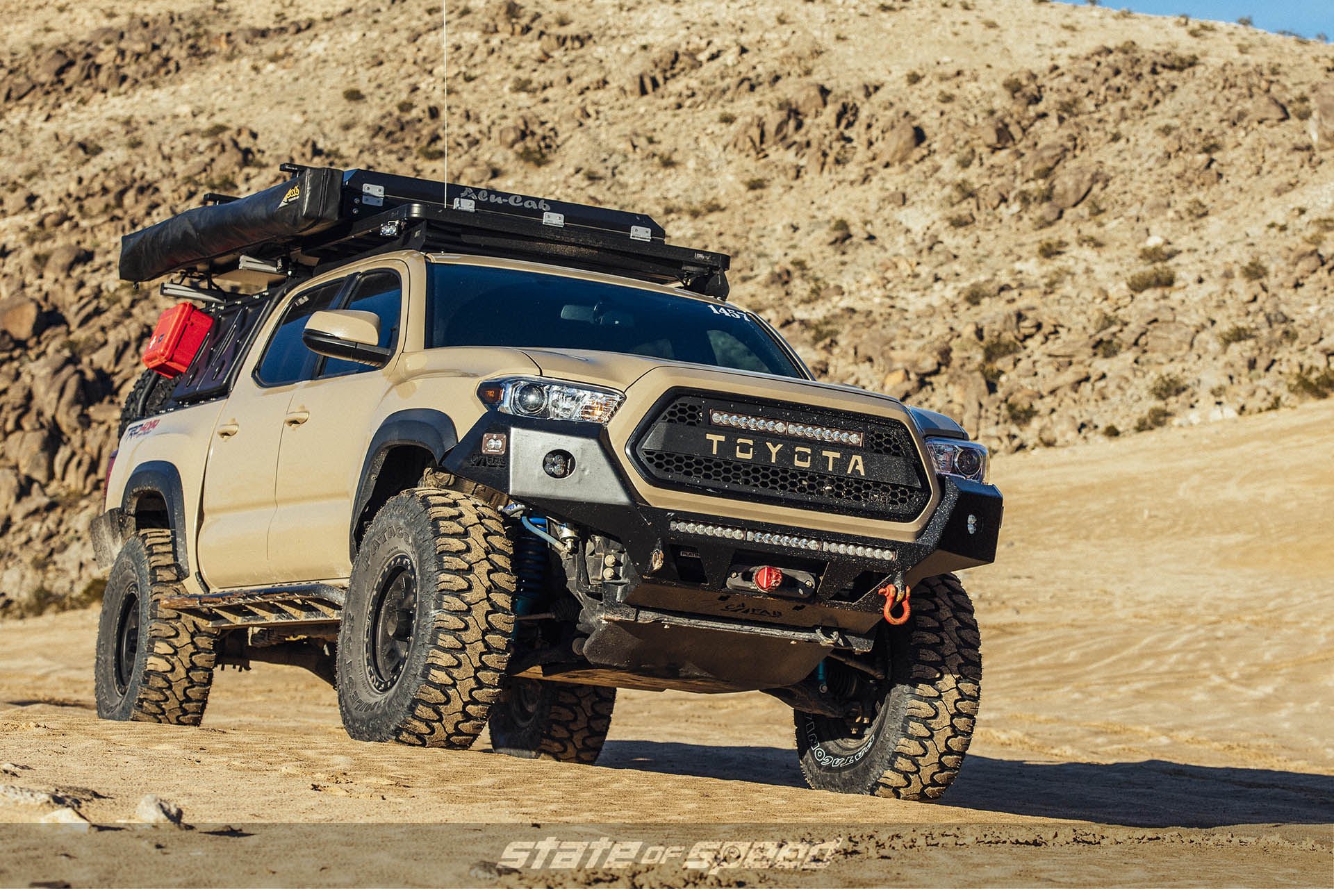 Toyota Tacoma with Milestar Patagonia M/Ts and beadlocks
