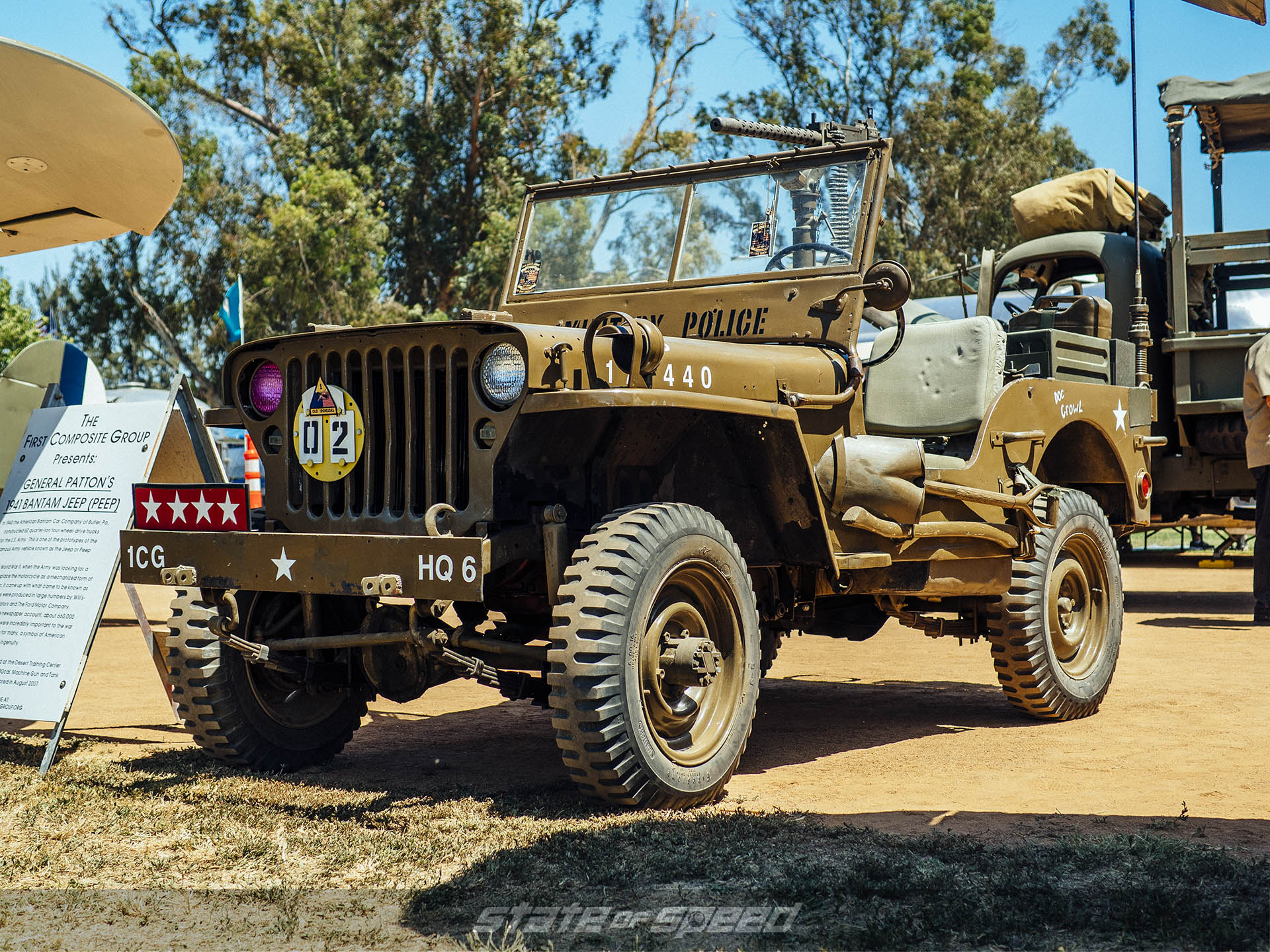 Jeep with Combat Wheels